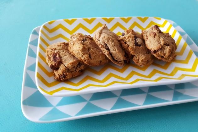 Cookies vegan et sans gluten à la farine de coco et de chataigne